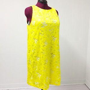 16 TIANA B Yellow Daisy Sleeveless Dress NWT